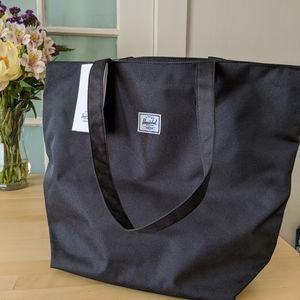 NWT Herschel Supply Co Black Zip Tote Bag